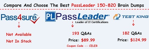 PassLeader 150-820 Exam Questions[28]