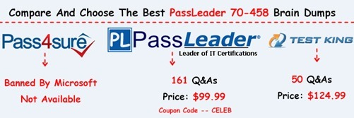 PassLeader 70-458 Exam Dumps[16]