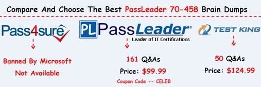 PassLeader 70-458 Exam Dumps[25]