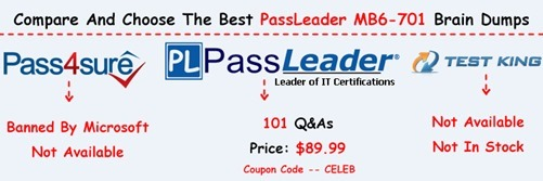 PassLeader MB6-701 Exam Questions[26]